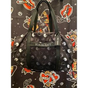 HOT TOPIC BLACKCRAFT CULT MOTHS& SKULLS DUFFLE BAG